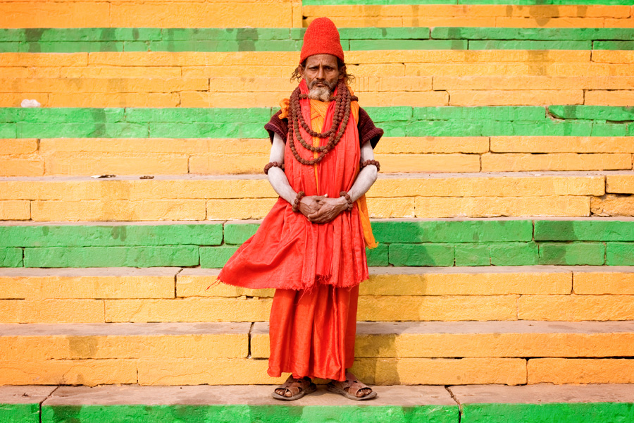 Holy Men of the Ganga River in Varanasi