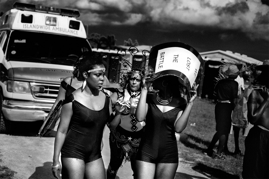 Group of young women during Cropover 2014 in Barbados
