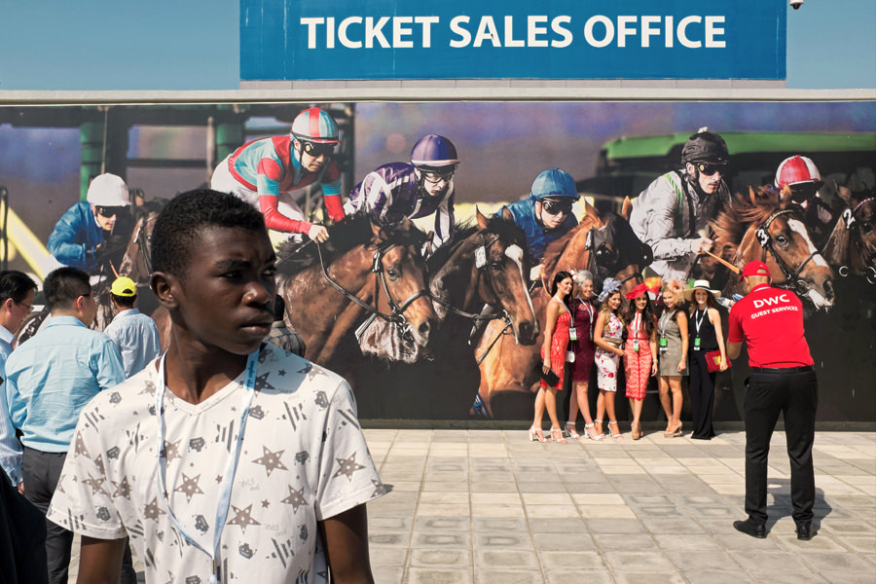 2015 Dubai World Cup at Meydan horsetrack in UAE.