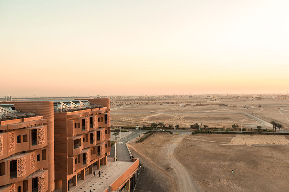 Photojournalist Doha and Abu Dhabi. Masdar City is growing in the desert.