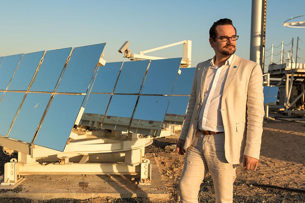 A French scientist in Masdar, Abu Dhabi.