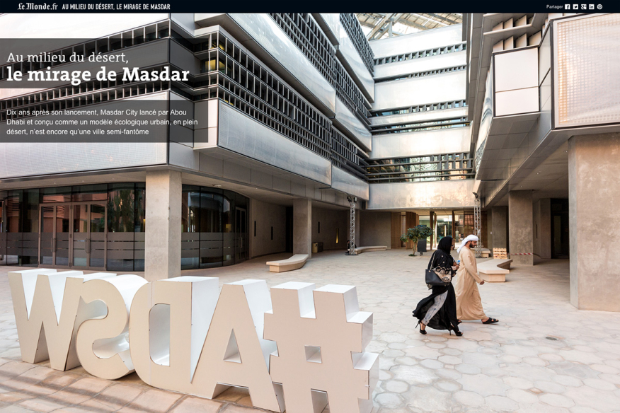 Photojournalist Doha, Abu Dhabi: Masdar, City of the Future in Abu Dhabi