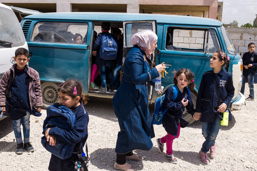 Christophe Viseux documents education for Syrian Refugee Children in Lebnaon